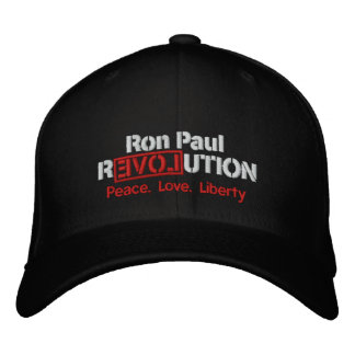 Gorra bordado revolución de Ron Paul Gorras De Béisbol Bordadas