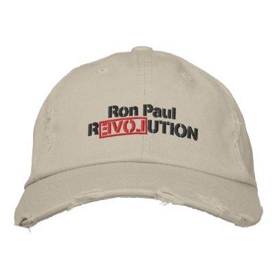 Gorra bordado revolución de Ron Paul Gorros Bordados