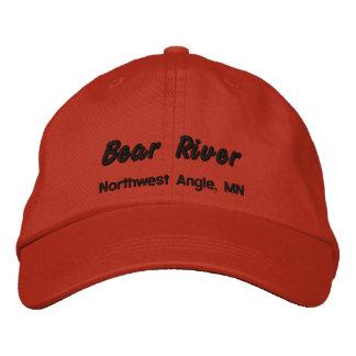 Gorra bordado río del oso - letras negras gorra de beisbol