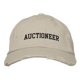 Gorra bordado subastador gorras de béisbol bordadas
