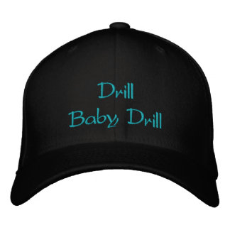 Gorra bordado taladro del bebé del taladro gorra de beisbol