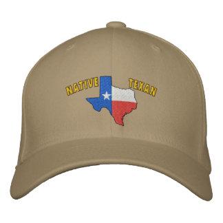 Gorra bordado Texan nativo Gorra Bordada