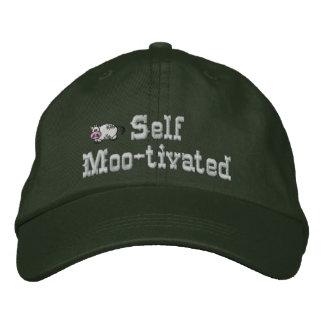 Gorra bordado vaca motivado uno mismo gorra de beisbol