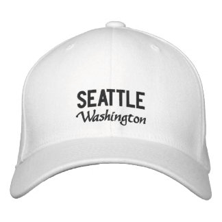 Gorra bordado Washington blanco de Seattle Gorra De Beisbol Bordada