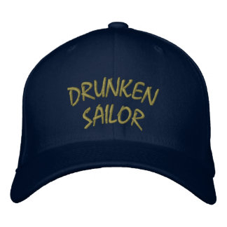 Gorra borracho del marinero gorras bordadas