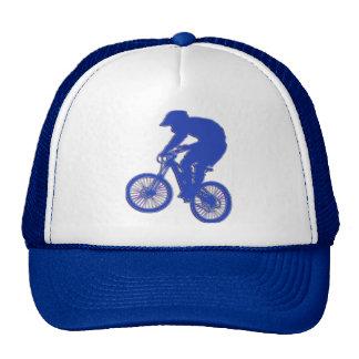 Gorra brillante del azul BMX