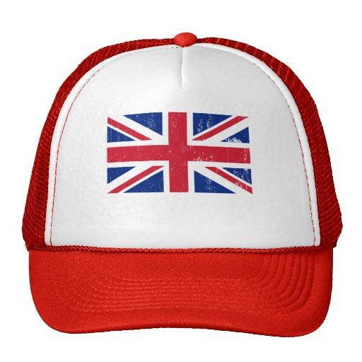 Gorra británico de la bandera de Union Jack