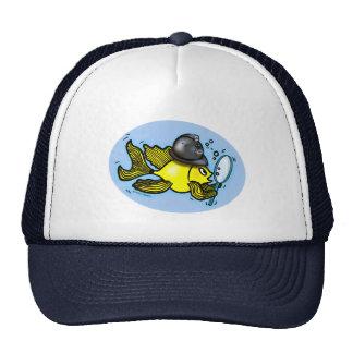 Gorra británico divertido de los pescados del poli