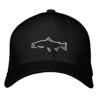 Gorra cabido del perseguidor de la trucha - negro gorra bordada