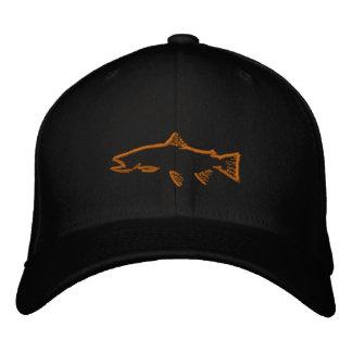 Gorra cabido del perseguidor de la trucha - negro gorras bordadas