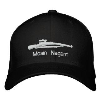 Gorra cabido negro bordado de Mosin Nagant Gorra De Béisbol