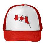Gorra canadiense de la bandera que agita