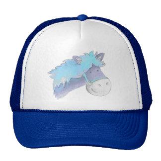 Gorra caprichoso de la acuarela azul del caballo
