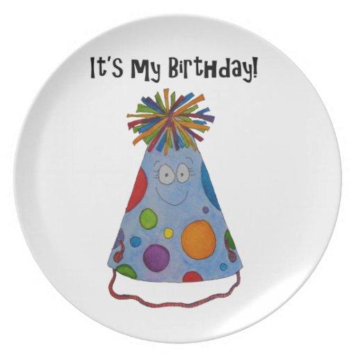 Gorra caprichoso del cumpleaños es mi regalo lindo plato de comida
