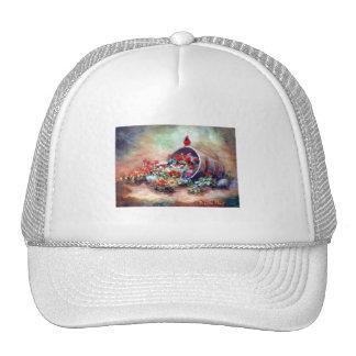 Gorra cardinal que desborda