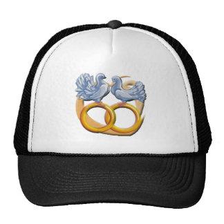 Gorra/casquillo de los pájaros del amor del boda gorra