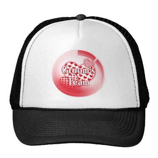 Gorra/casquillo del equipo de los novios gorras