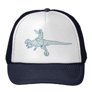 Gorra/casquillo del jinete del dinosaurio de Jesús Gorros Bordados