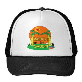 Gorra/casquillo del novio de la playa gorras