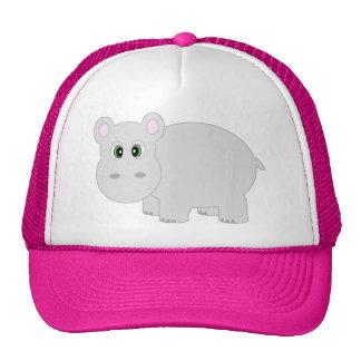 Gorra/casquillo lindos del hipopótamo gorras