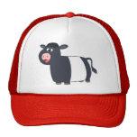 Gorra ceñido dibujo animado feliz lindo de la vaca