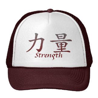 Gorra chino de la fuerza del símbolo