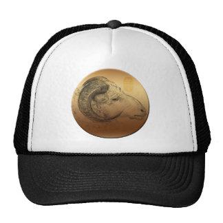 Gorra chino de oro del año o del cumpleaños del