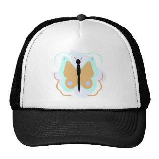Gorra ciánico y anaranjado bonito de la mariposa