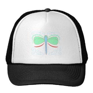 Gorra ciánico y rosado bonito de la libélula