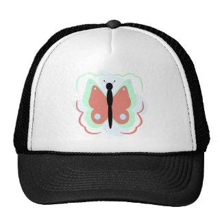 Gorra ciánico y rosado bonito de la mariposa