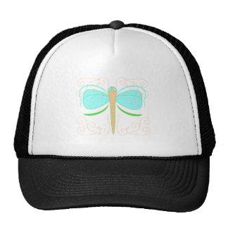 Gorra ciánico y verde bonito de la libélula