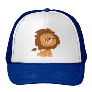 Gorra codicioso lindo del león del dibujo animado