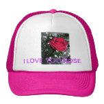 Gorra color de rosa del casquillo de la bola