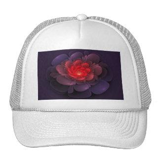 Gorra color de rosa rosado y púrpura
