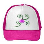 Gorra color de rosa y de los remolinos estilizado