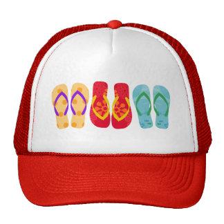 Gorra colorido del modelo de los flips-flopes de