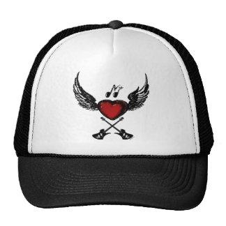 Gorra con alas guitarra del corazón