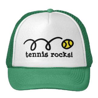 Gorra con diseño de la pelota de tenis que despide