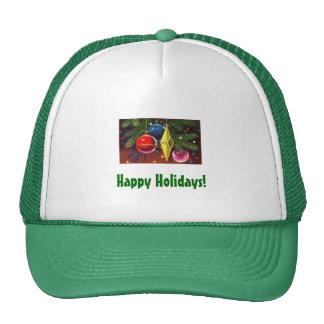 Gorra con diseño del navidad Ornaments-2