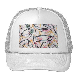 Gorra con diseño pintado a mano