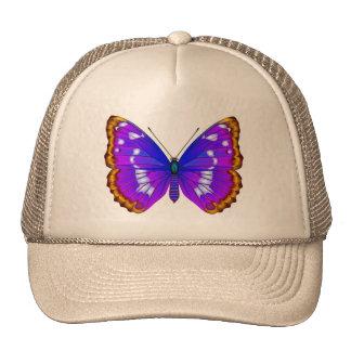 Gorra con el azul buttehfly