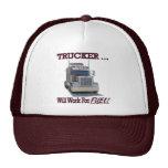 """Gorra con el """"camionero. ¡Trabajará para el combus"""