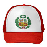 gorra con el escudo clásico de Perú