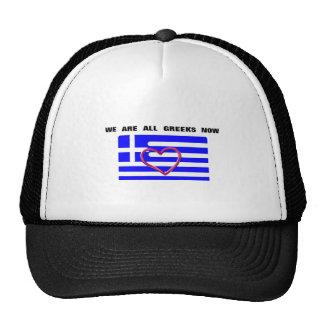 """Gorra con el moto """"ahora somos todos los Griegos """""""