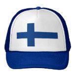 Gorra con la bandera de Finlandia