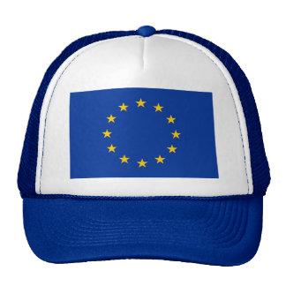 Gorra con la bandera de la unión europea