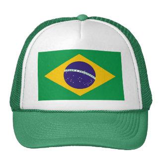 Gorra con la bandera del Brasil