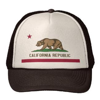 Gorra con la bandera del estado de California -