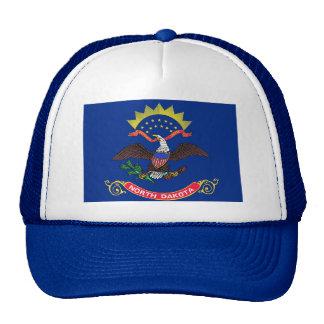 Gorra con la bandera del estado de Dakota del Nort