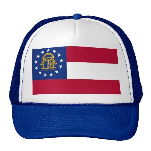 Gorra con la bandera del estado de Georgia - los E
